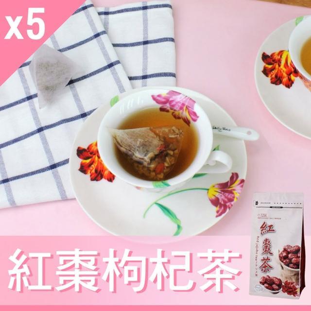 【Mr.Teago】紅棗茶/紅棗枸杞茶/養生茶-3角立體茶包-27包/袋(5袋/組)