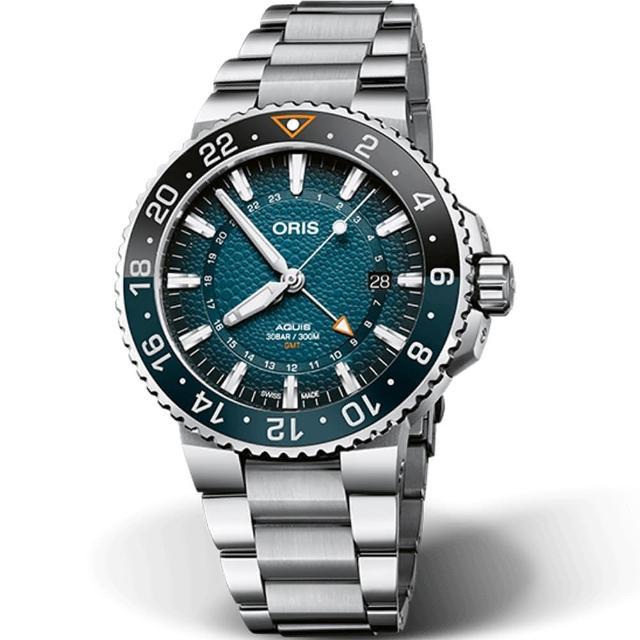 【ORIS 豪利時】Aquis WHALE SHARK 鯨鯊限量腕錶(0179877544175-Set)