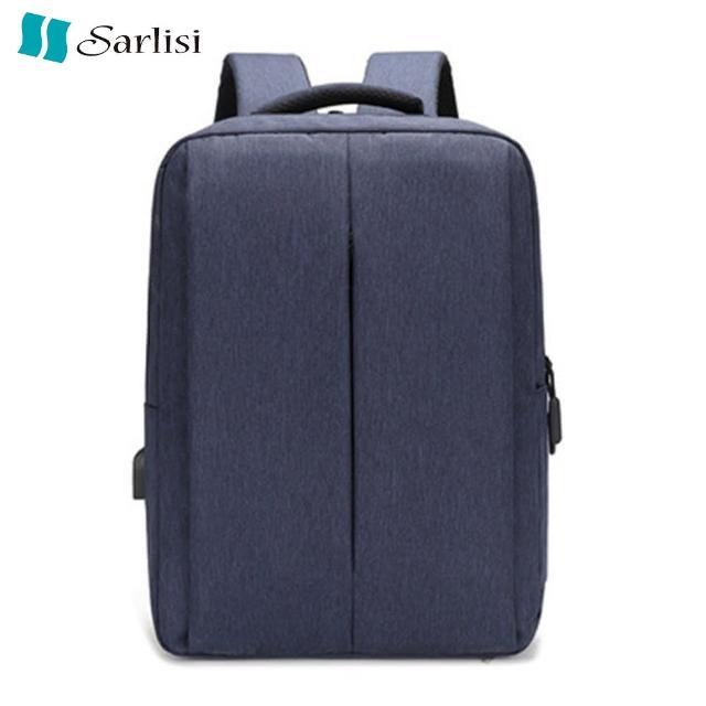 【Sarlisi】商務背包男士雙肩包旅行包休閒學生書包簡約時尚男士電腦包