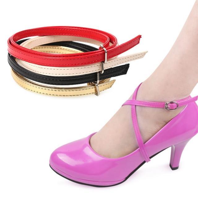 【DAYOU】los0437交叉款高跟鞋防掉鞋帶子鞋大不跟腳束綁鞋扣鞋配件(大友)