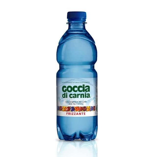 【Goccia di Carnia 高地卡尼】天然氣泡礦泉水-寶特瓶 500ml X 24入/箱(氣泡礦泉水)