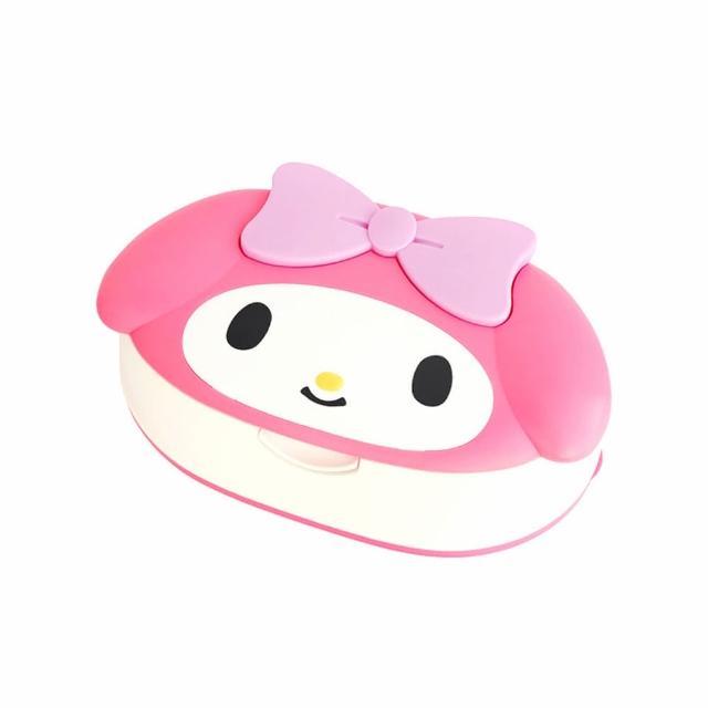 【LEC】LEC My Melody 美樂蒂 造型盒裝99.9%純水濕紙巾 80抽x1包(日本製純水濕巾)