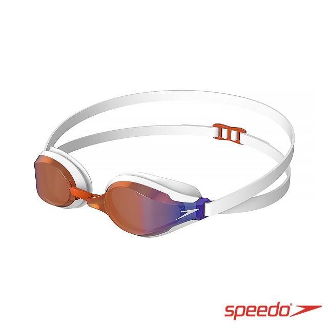 【SPEEDO】成人競技泳鏡 Speedsocket 2 鏡面(白/火焰藍)
