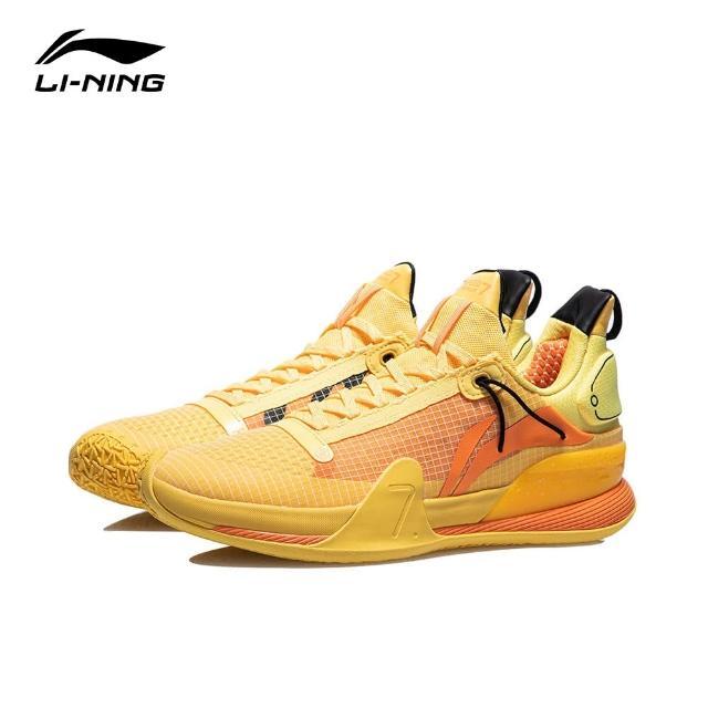 【LI-NING 李寧】閃擊VII Premium男子減震回彈籃球專業比賽鞋 螢光耀黃(ABAR017-2)