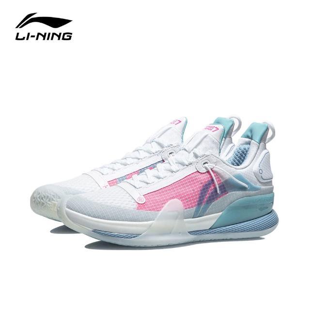 【LI-NING 李寧】閃擊VII Premium男子減震回彈籃球專業比賽鞋 標準白(ABAR017-3)