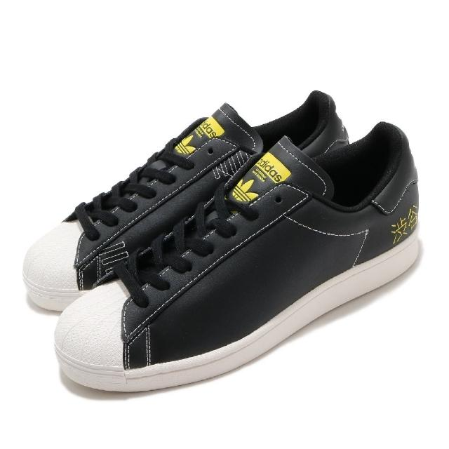 【adidas 愛迪達】休閒鞋 Superstar Pure 女鞋 愛迪達 三葉草 貝殼頭 涉谷 皮革 黑 白(FV2833)