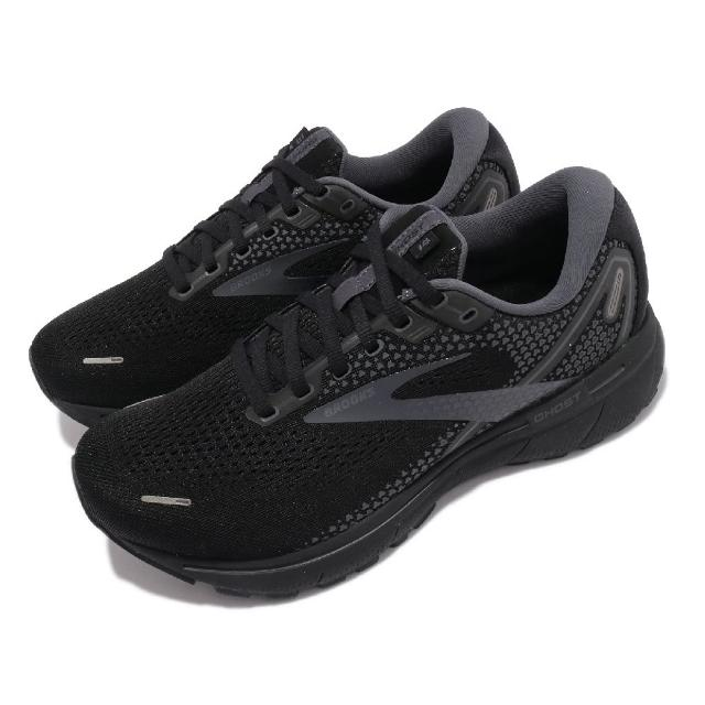 【BROOKS】慢跑鞋 Ghost 14 4E 超寬楦 男鞋 防震 穩定 流暢 柔軟 舒適 黑 灰(1103694E020)