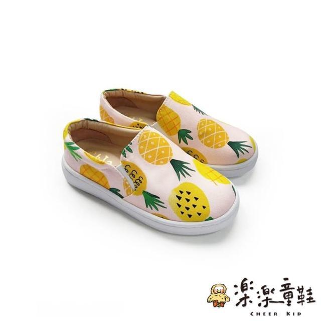 【樂樂童鞋】台灣製旺旺來花布懶人鞋-綠色(男童鞋 女童鞋 休閒鞋 懶人鞋 布鞋)