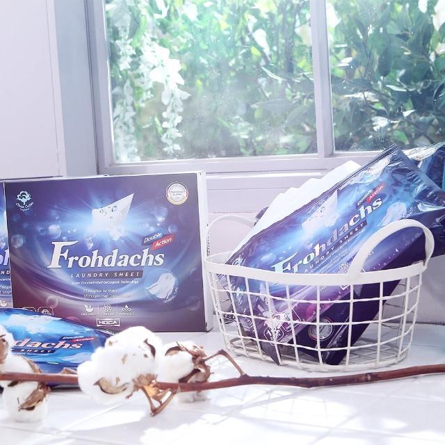 【德國Frohdachs】4倍超高濃縮雙效洗衣紙12包組(共180片)