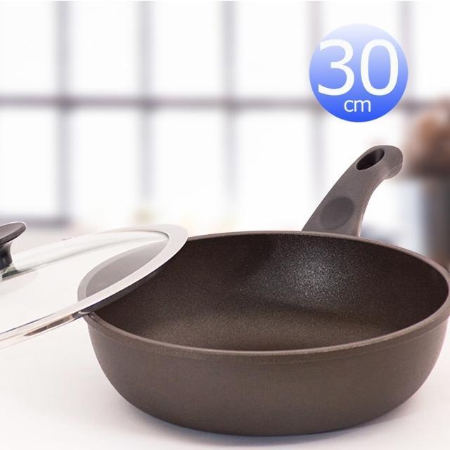 【UNICOOK優樂】樂廚深型平底鍋附蓋(30cm)