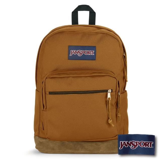 【JANSPORT】Right Pack 系列單邊水壺側袋款後背包(橡膠木)