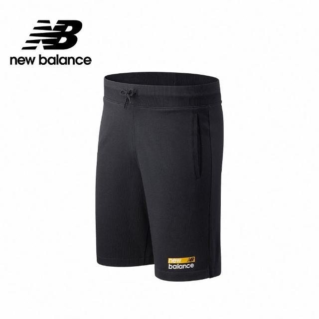 【NEW BALANCE】NB 左腿品牌棉短褲_男款_深灰色_MS11901BM(美版 版型偏大)