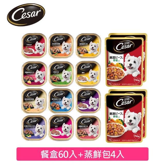 【Cesar 西莎】餐盒momo獨家組x2組(餐盒34入+蒸鮮包4入-共2組)