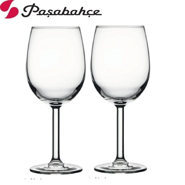 【Pasabahce】高腳紅酒杯395cc(二入組)