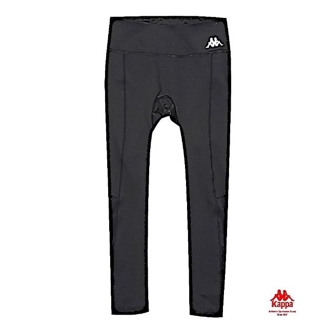 【KAPPA】針織緊身長褲-合身版 黑(361783W005)