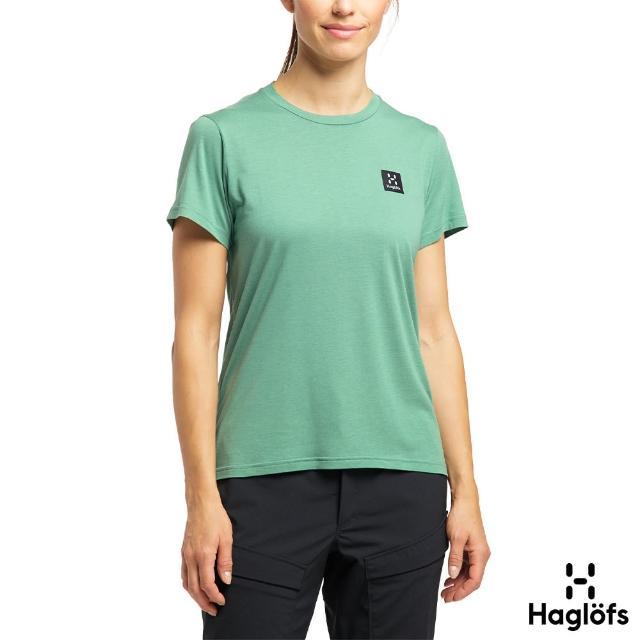 【Haglofs】女 Lyocell H Logo 彈性抗臭 T恤(林徑綠)