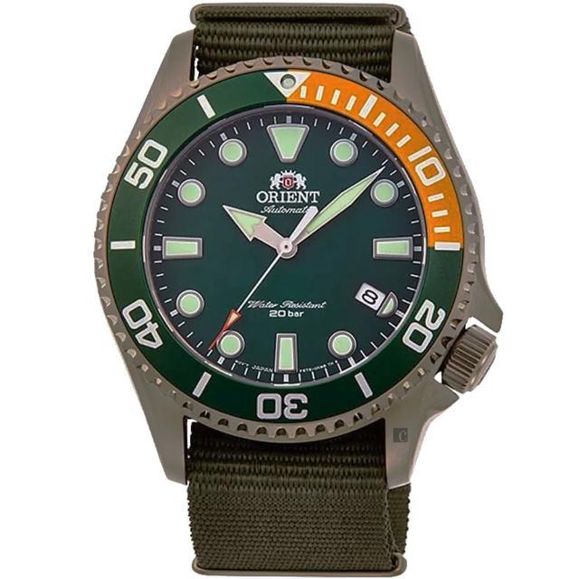 【ORIENT 東方錶】水中蛟龍 200米機械錶-綠/43.4mm(RA-AC0K04E)