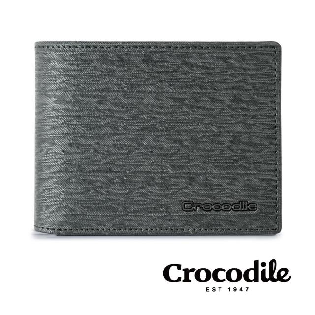 【Crocodile】鱷魚皮件 真皮皮夾 8卡 雙鈔票 短夾-0103-10404-原廠公司貨(維也納Wien系列)