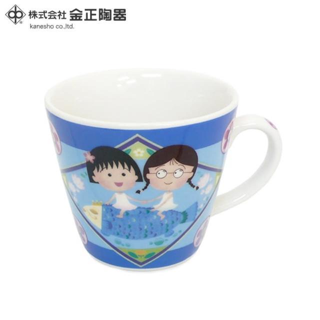 【櫻桃小丸子】日本金正陶器 櫻桃小丸子馬克杯 魚 270ml(日本製 日本原裝進口瓷器)