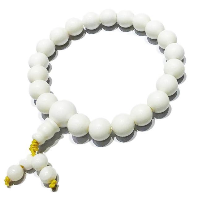 【十方佛教文物】純白硨磲手珠 21顆8mm