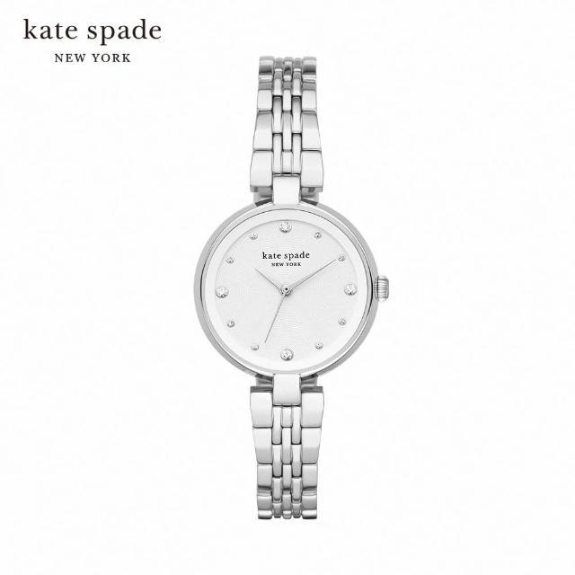 【KATE SPADE】Annadale 安娜黛爾點鑽女錶 銀色不鏽鋼鍊帶 30MM KSW1667