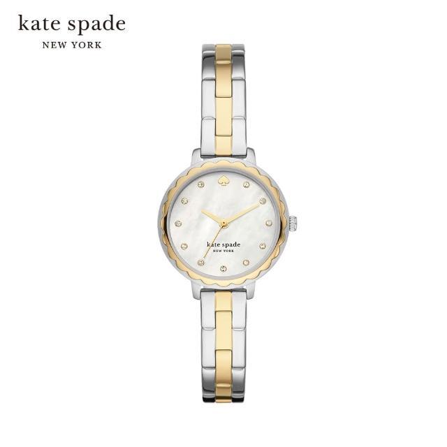 【KATE SPADE】Morningside 紐約時尚女錶 金X銀不鏽鋼鍊帶 28MM KSW1689