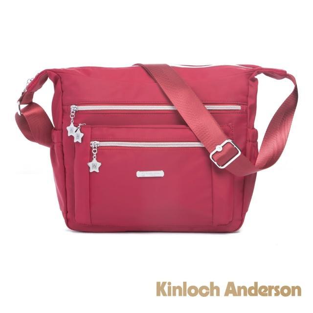 【Kinloch Anderson】城市酷玩 大容量梯形斜背包(知性紅)