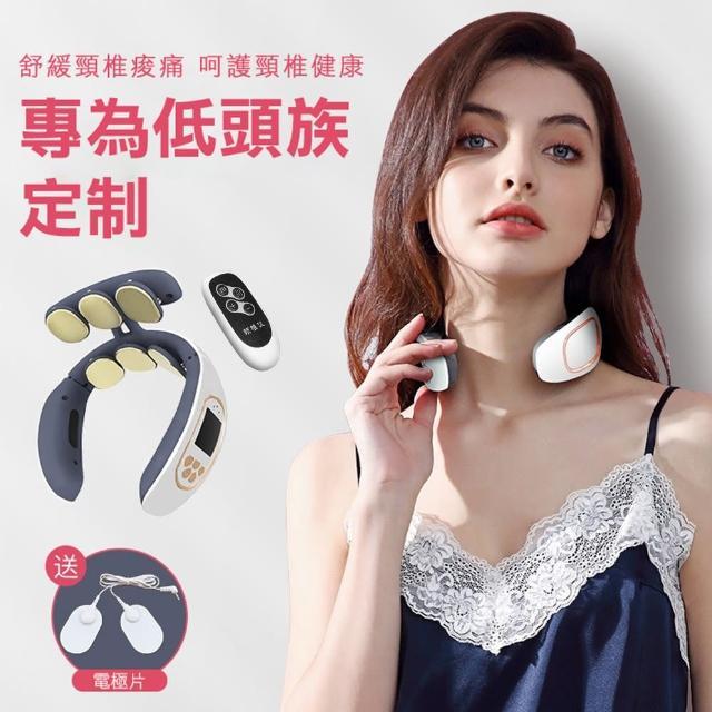 【呈云】第四代六頭3D肩頸部按摩儀(語音USB充電)