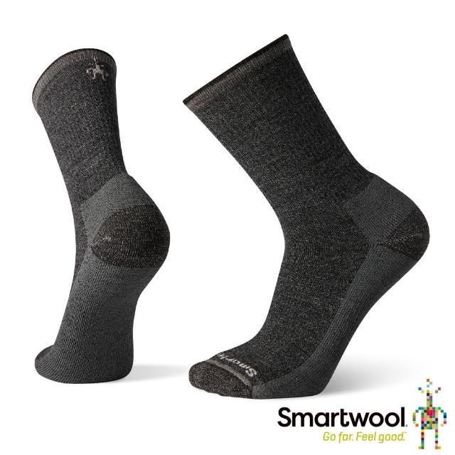 【SmartWool】輕量減震徒步印花中長襪-Hiker Street(黑色)