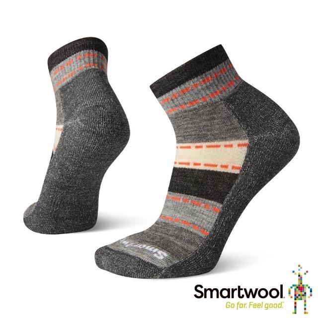 【SmartWool】女 輕量減震徒步短筒襪(炭黑色)