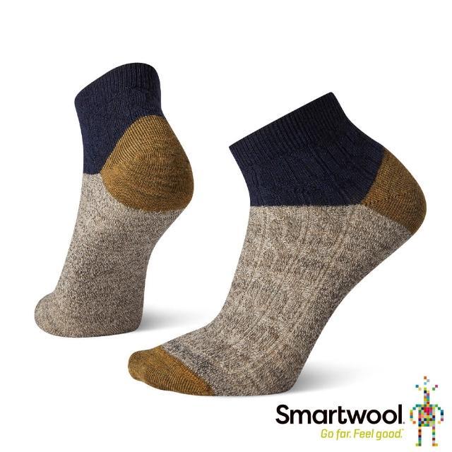 【SmartWool】女 繩紋短靴襪(深海軍藍)
