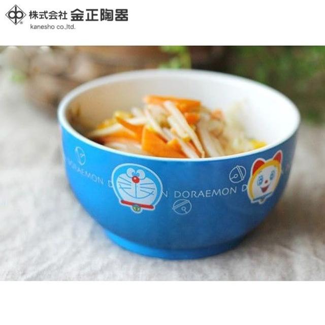 【Doraemon 哆啦A夢】日本金正陶器 哆啦A夢藍色彩繪碗3入組(日本製 日本原裝進口)
