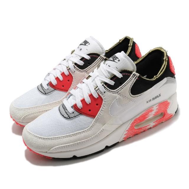 【NIKE 耐吉】休閒鞋 Air Max III PRM 運動 男鞋 氣墊 舒適 避震 簡約 球鞋 穿搭 白 橘紅(DC7856-100)