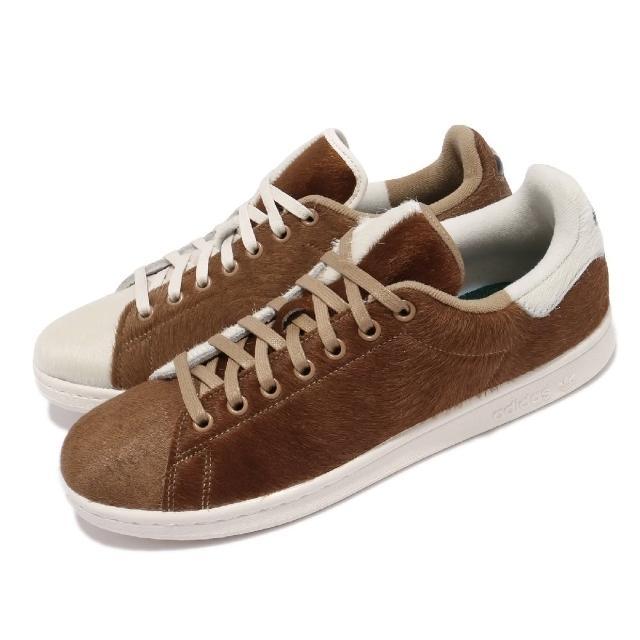 【adidas 愛迪達】休閒鞋 Stan Smith 聯名 運動 男鞋 愛迪達 小精靈 鴛鴦 毛料鞋面 穿搭 咖啡 棕(S42669)
