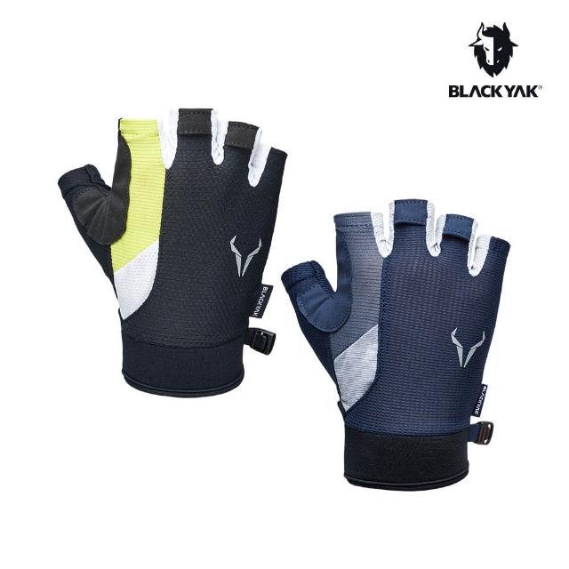 【BLACK YAK】運動半指手套[藍色/黑色]BYAB1NAN08(韓國 耐磨防滑 半指手套)