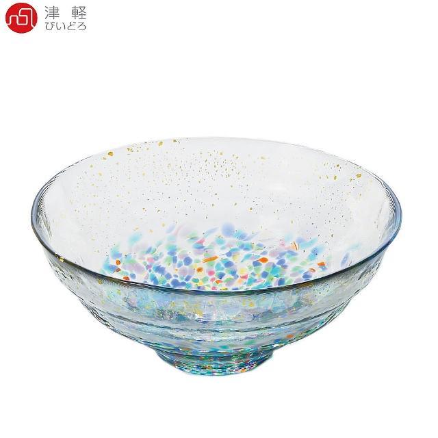 【ADERIA】日本津輕手作金彩祭典琉璃缽 DF-71892(玻璃碗)