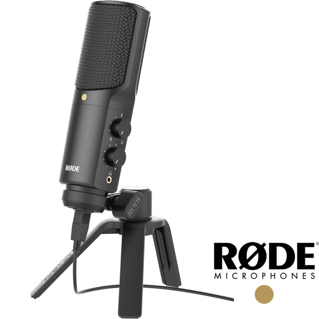 【RODE】羅德 NT-USB 多功能錄音室級 USB 麥克風(公司貨 RD NTUSB 適合錄音 網紅直播 YOUTUBER K歌)