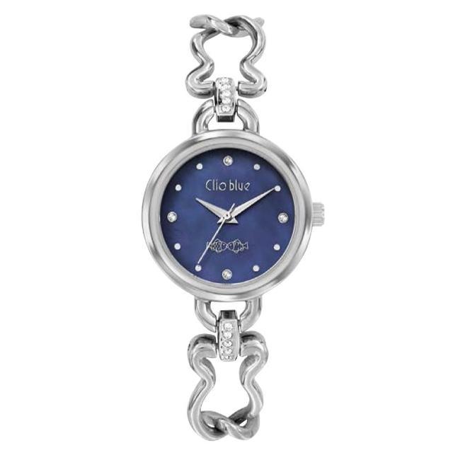 【CLIO BLUE】時尚小魚錶-藍色(法國巴黎品牌/925純銀)