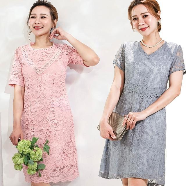 【水衫】法式優雅蕾絲洋裝二件組(I03-17)