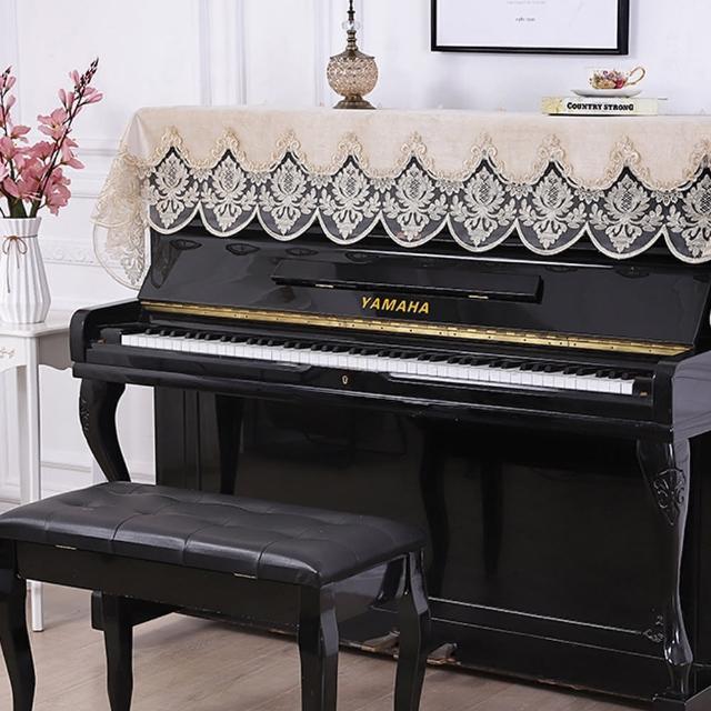 【美佳音樂】鋼琴罩/防塵罩/鋼琴蓋布 歐式刺繡蕾絲系列-米白色(鋼琴罩)