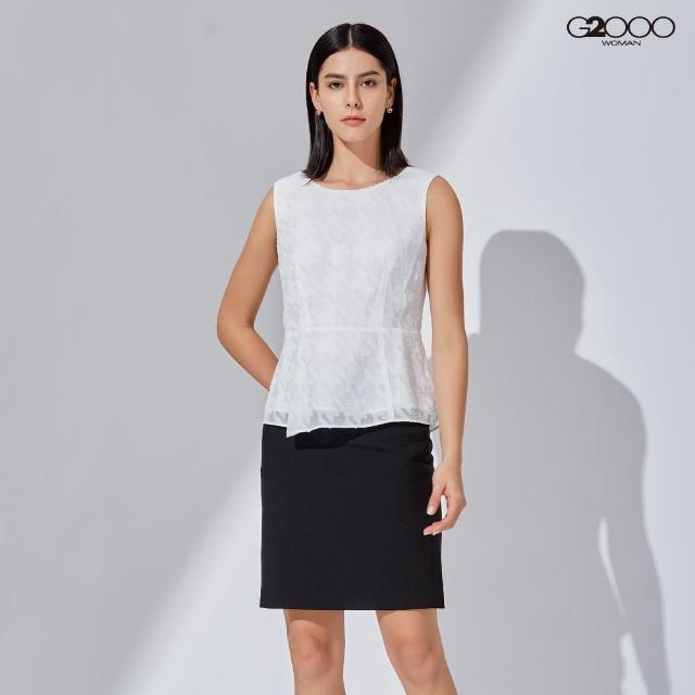 【G2000】時尚緹花短袖休閒上衣-白色(1124800601)