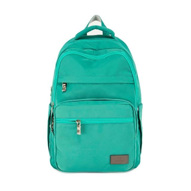 【J II】後背包-無限多隔層防潑水後背包-薄荷綠-6377-27(後背包)