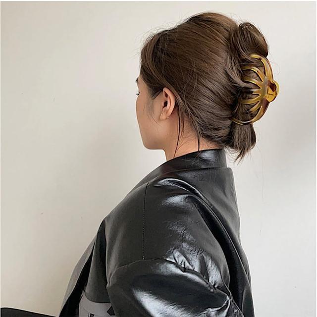 【89 zone】法式簡約氣質琥珀色抓夾/髮夾 1 入(不挑款/混色隨機出貨)