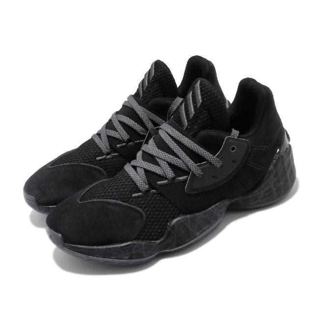 【adidas 愛迪達】籃球鞋 Harden Vol.4 GCA 男鞋 愛迪達 哈登 大鬍子 NBA球星款 黑 灰(FV5572)