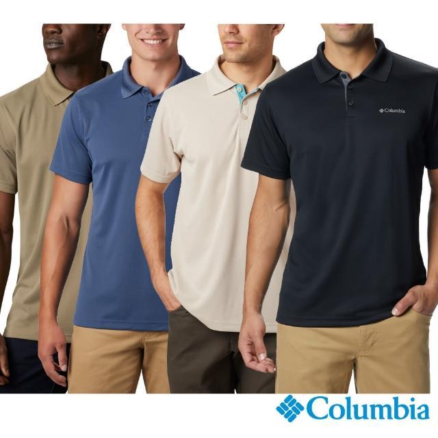 Columbia 哥倫比亞【Columbia 哥倫比亞】男款- Omni-Shade快排短袖Polo衫-墨藍(UAE01260 / 活動款)