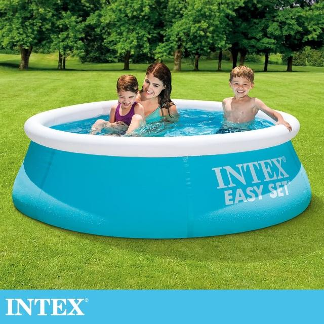 【INTEX】簡易裝EASY SET游泳池183x51cm-880L 適用3歲+(28101)