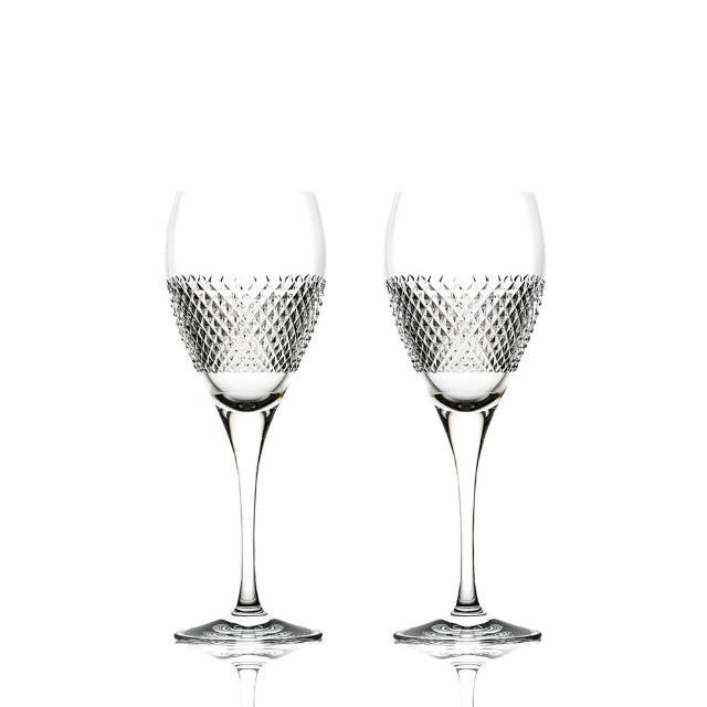 【ROGASKA 盧斯卡】純粹晶鑽-白酒杯250ml-2入(水晶手作杯/甜酒/氣泡/香檳/白酒/水果酒)