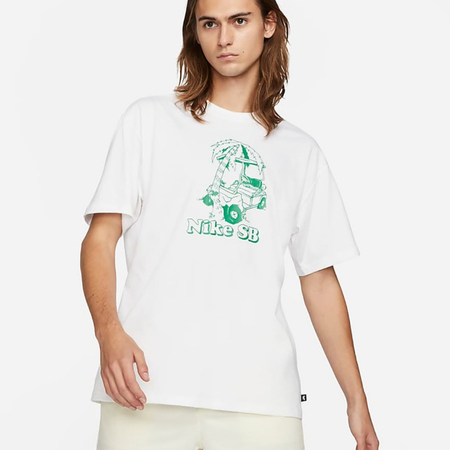 【NIKE 耐吉】NIKE AS M NK SB TEE WRECKED 男 短袖上衣 白(DD1309100)