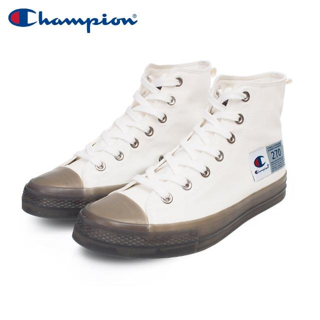 【Champion】ELLY HI 男女中性款白色高筒休閒帆布鞋NO.USLS-1015-02
