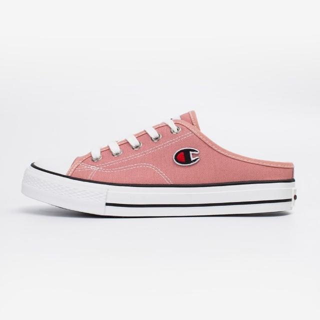【Champion】女款帆布鞋穆勒鞋CANVAS SLIP-玫紅NO.WSLS-1014-50